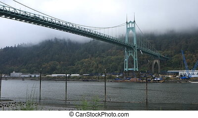 St. Johns Bridge in Portland, Oregon - The St. Johns Bridge...