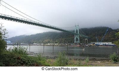 St. Johns Bridge in Portland, Oregon - The St. Johns Bridge...