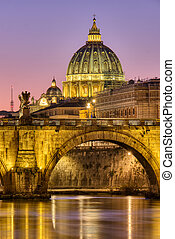 The St. Peters Basilica in the Vatican City