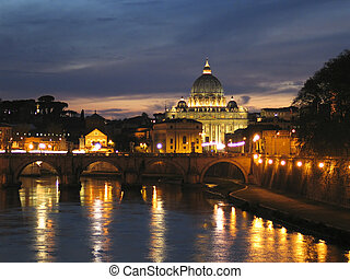 St. Peters Dome in Rome - The St. Peters Dome in Rome, Italy...