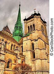 The St. Pierre Cathedral of Geneve in Switzerland