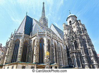 The St. Stephens Cathedral in Vienna, Austria. Build in...