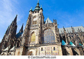 The St. Vitus cathedral in Prague Castle in Prague, Czech...