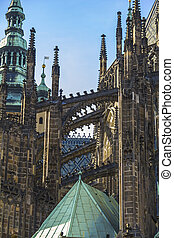 The St. Vitus Cathedral in Prague