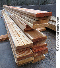 The stack Board for construction. Building material.