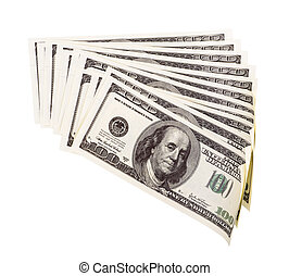 The stack of one hundred dollar