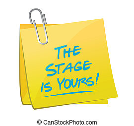 the stage is yours memo post illustration design
