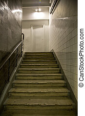 The stairs in the house
