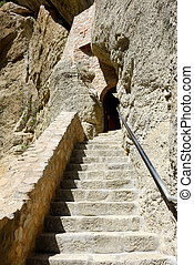 The stairs to Monastery of Holy Trinity, Meteora,  Greece