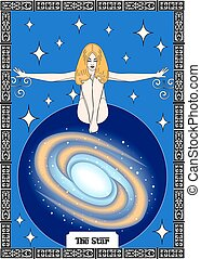 the star card - the illustration - card for tarot - the...