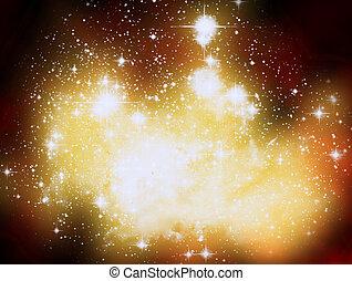 star dust background - The star dust background