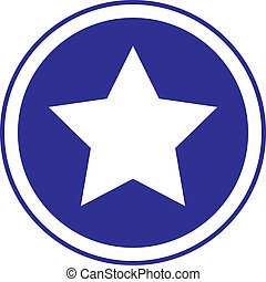 The star in circle blue sign