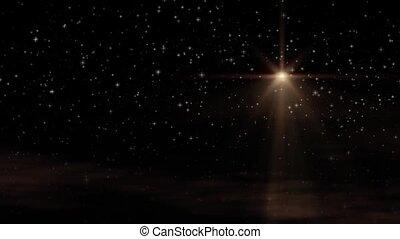 The Star Loop, Warmglow - Seamless loop features large...