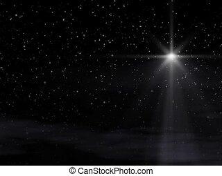 The Star SD - Seamlessly looping. Bethlehem Christmas Star...