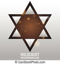 The star  vector for holocaust remembrance day