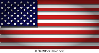 The Stars and Stripes with 3D depth and vignetting