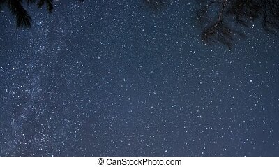The stars revolve. UltraHD (4K)