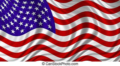 the Stars & Stripes - Floating Free USA Flag