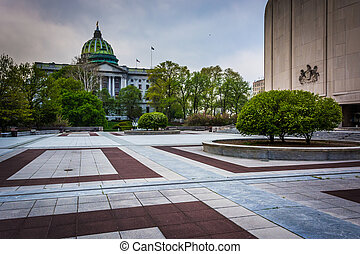 The State Capitol in Harrisburg, Pennsylvania.