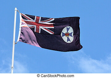 The state flag of Queensland Australia