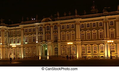 The State Hermitage museum in St. Petersburg. Night.