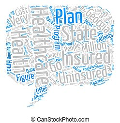 The State Of Georgia s Health Insurance text background word cloud concept