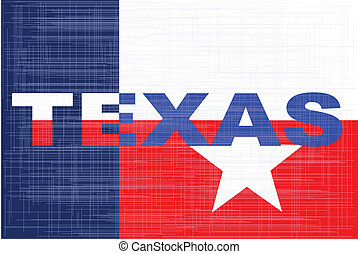 The text for the state of Texas with the texas star