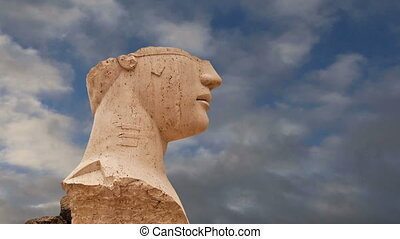 The statue in the archeological area of Agrigento, Sicily,...