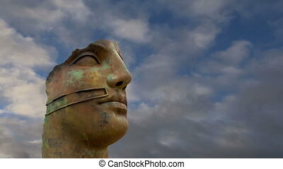 statue in the archeological area - The statue in the...