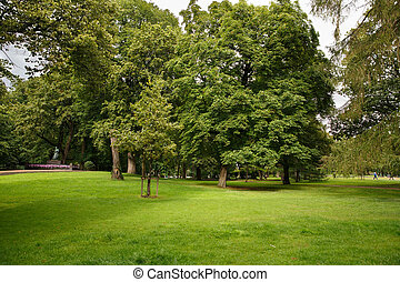 The Royal Palace park in Oslo