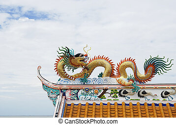 statue of dragon Chinese