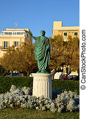 The statue of Emperor Nerone at Anzio