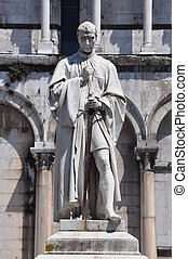 The statue of Francesco Burlamacch