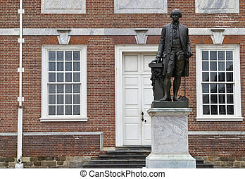 George Washington - The statue of George Washington, first...