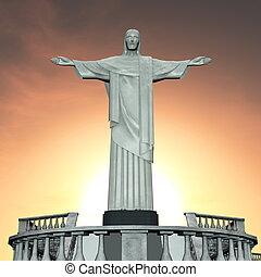 The statue of Jesus Christ