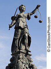 Statue of Lady Justice - The Statue of Lady Justice in...