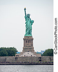 The Statue of Liberty in New York City Downtown