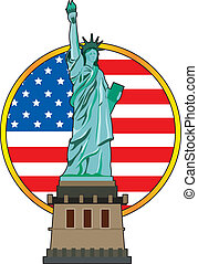 Statue of Liberty - The Statue of Liberty with the American...