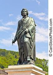 The statue of Mozart in Salzburg, Austria