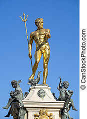 The statue of Neptune in front of Batumi Drama Theater, Georgia