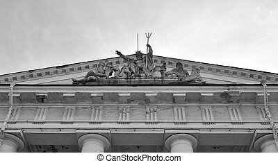 The Statue of Neptune on Exchange building.