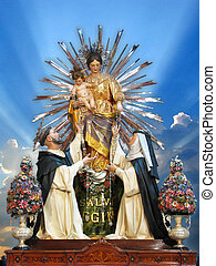 Our Lady of Pompeii - The statue of Our Lady of Pompeii at ...