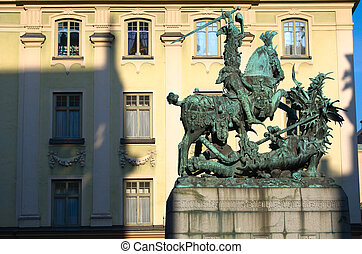 The statue of St. George and the Dragon in Stockholm