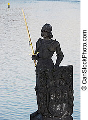 The statue of the knight Bruncvik