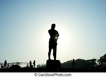 The Statue of the Sentinel of Freedom (statue of Lapu-lapu)...