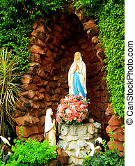 The statue of Virgin Mary