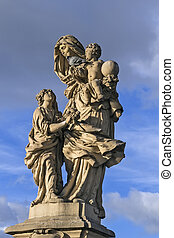 The statue on Charles Bridge, Prague