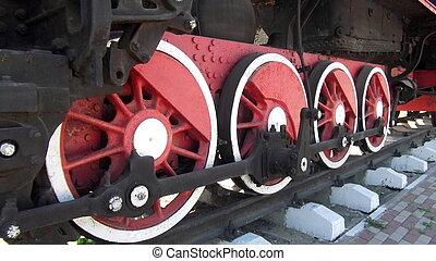 The steam train wheel