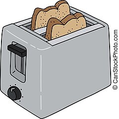 The steel electric toaster