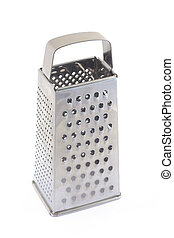 The steel grater on white background